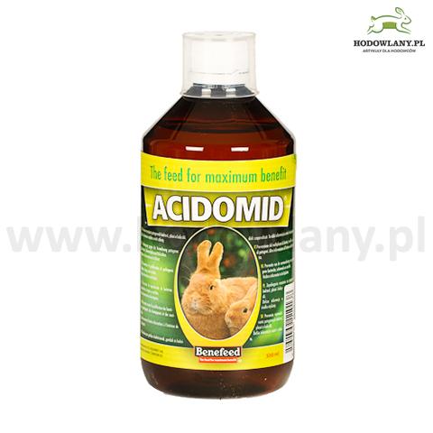 ACIDOMID 500 ml zakwaszacz przeciw kokcydiozie i pleśni do wody dla królików