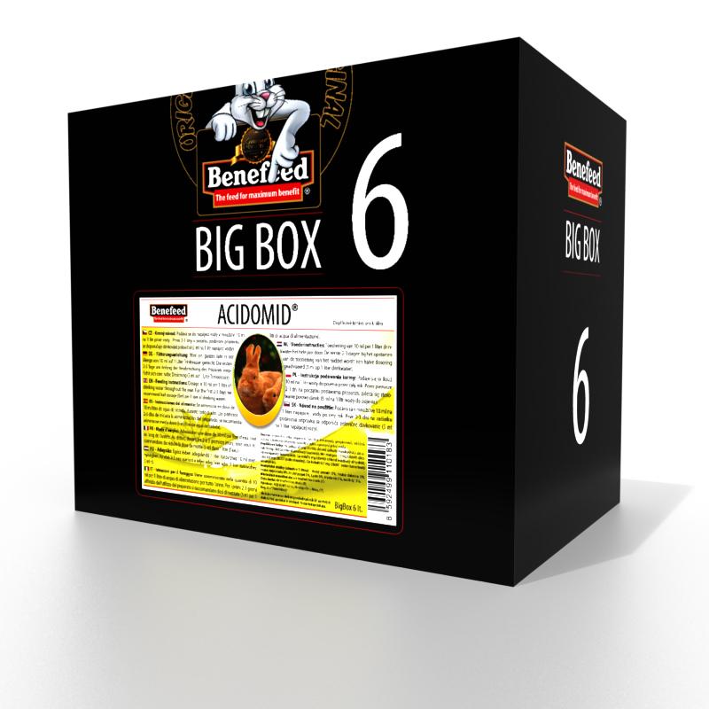 ACIDOMID BIGBOX 6000 ml zakwaszacz przeciw kokcydiozie i pleśni do wody dla królików