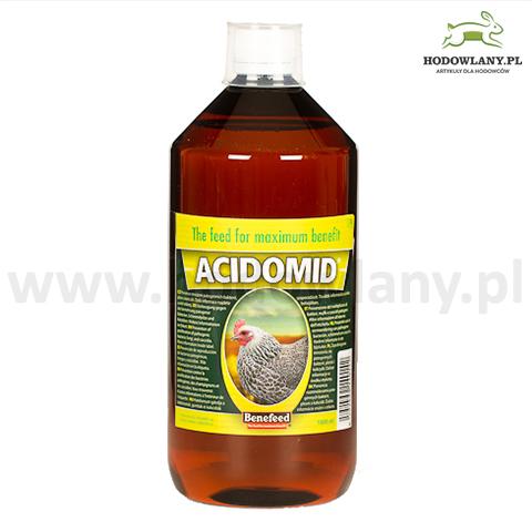 ACIDOMID 1000 ml zakwaszacz przeciw kokcydiozie i pleśni do wody dla drobiu