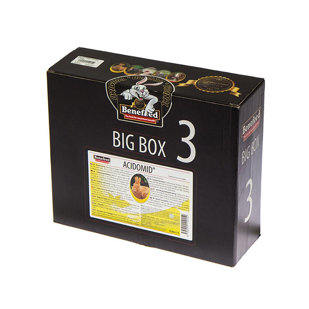 ACIDOMID BIGBOX 3000 ml zakwaszacz przeciw kokcydiozie i pleśni do wody dla królików