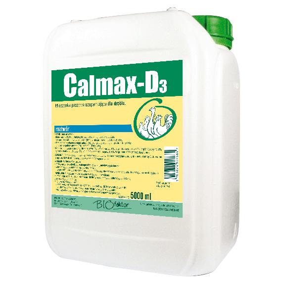 Calmax-D3 5000 ml na rozwój tkanki kostnej i poprawę skorup jaj