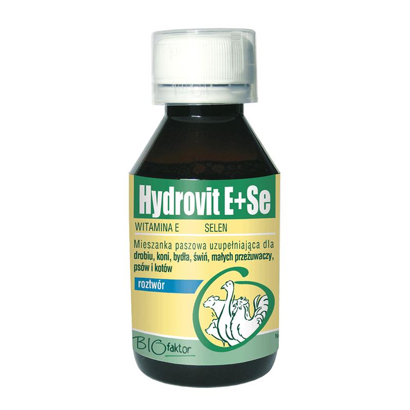 HYDROVIT E+SE 100 ml na stres i osłabienie po chorobach dla drobiu, trzody, bydła i koni