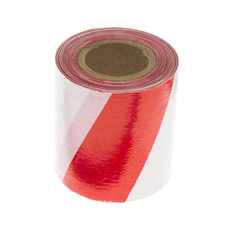 Taśma ostrzegawcza biało-czerwona 75 mm rolka 100 m