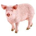 Świnia figurka zabawka ręcznie malowana
