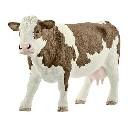 Krowa Simmental figurka zabawka ręcznie malowana