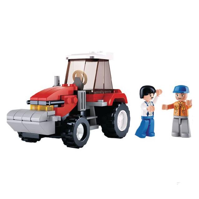 Zestaw klocków traktor i dwóch rolników