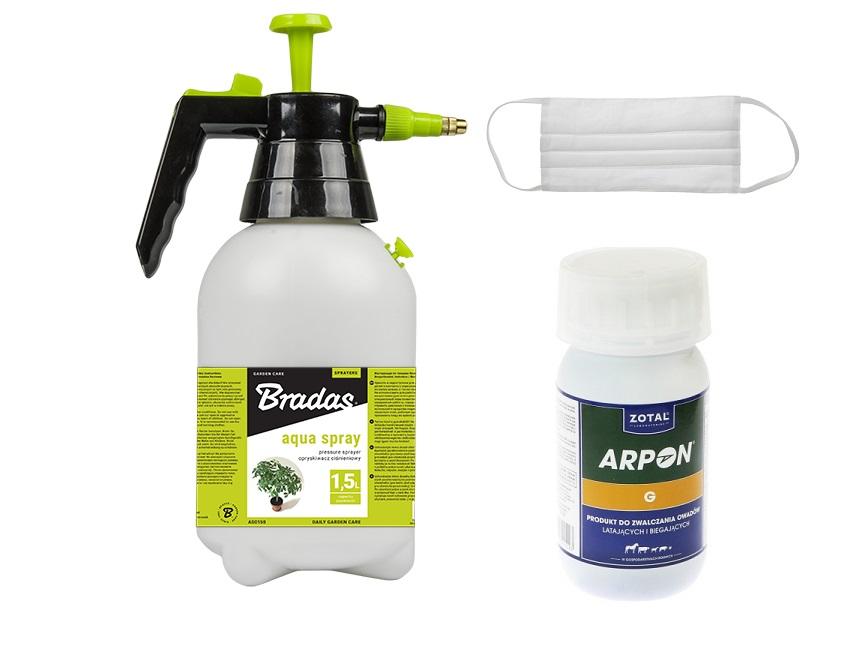 Zestaw na wszelkie owady ARPON G 250 ml + opryskiwacz + maska  - zdjecie 1