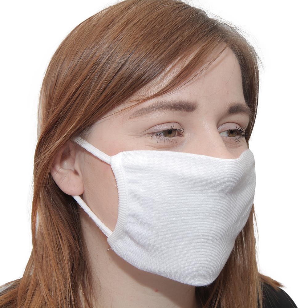 Maseczka wielorazowa ochronna z jonami srebra Street Wear ELASTIC biała - zdjecie 1