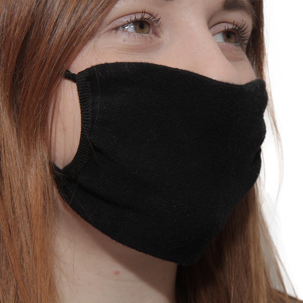 Maseczka wielorazowa ochronna z jonami srebra Street Wear ELASTIC czarna - zdjecie 1