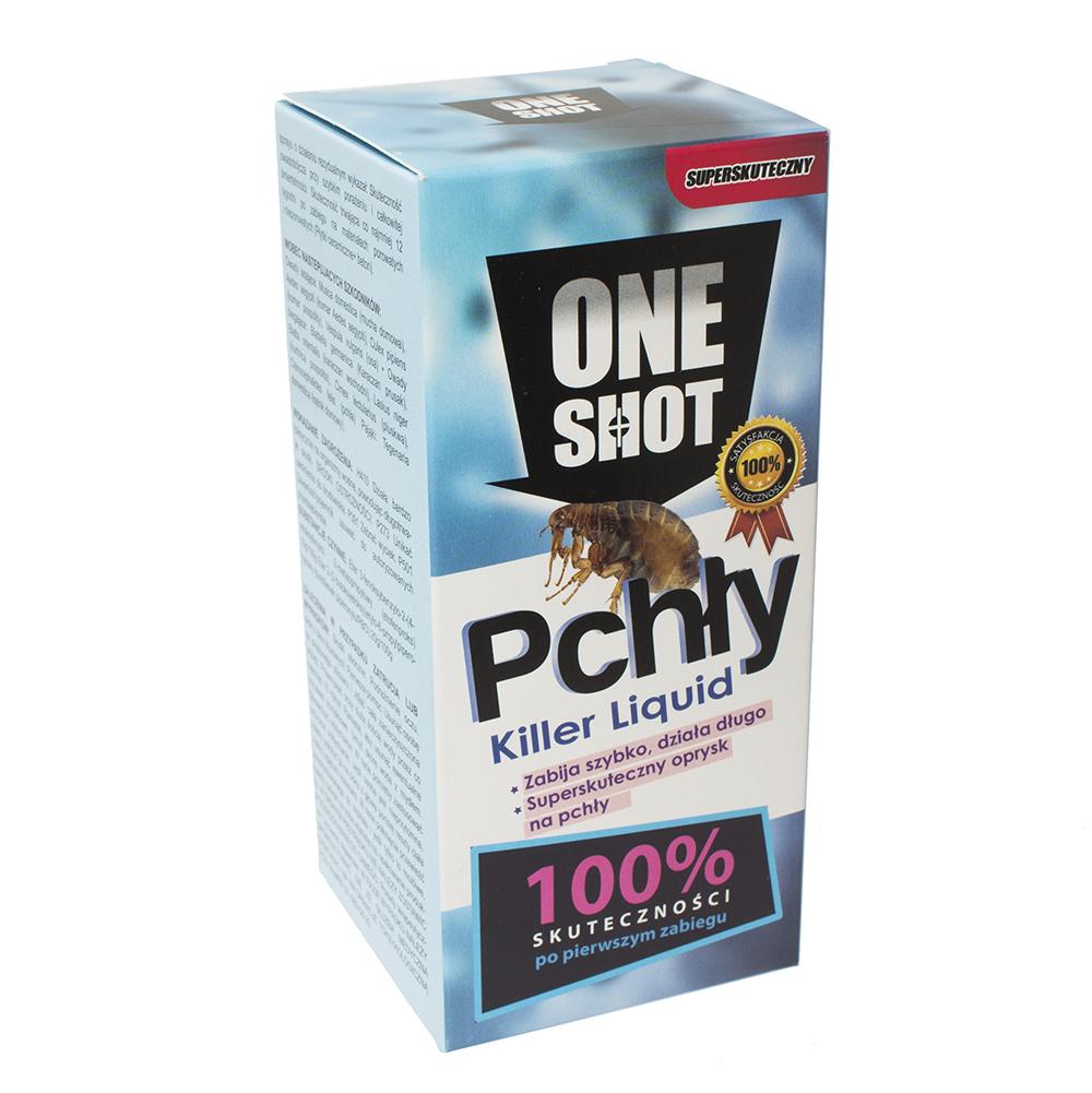 ONE SHOT 250 ml oprysk na pchły do wewnątrz i zewnątrz