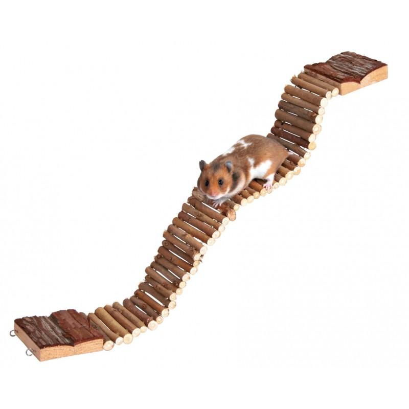 Mostek drewniany, drabinka, plac zabaw dla chomika i gryzoni