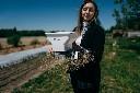 Ręczny siewnik rozsiewacz nasion i nawozu 3l  - zdjecie 2