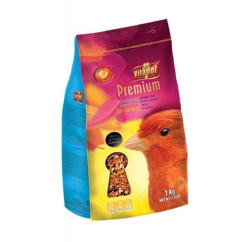 Karma premium dla kanarków z owocami, warzywami i ziarnami 1 kg