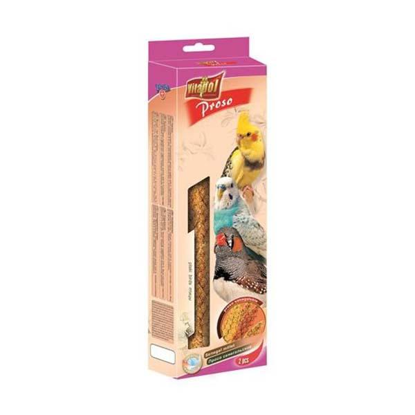 Proso senegalskie dla ptaków, papug i kanarków z dużymi kłosami