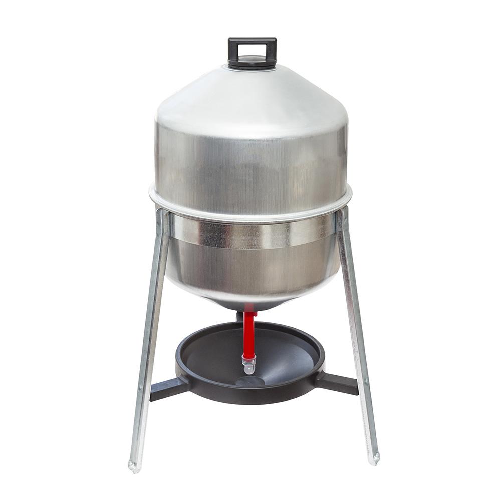 Poidła zbiornikowe 30 litrów ocynkowane na stojaku