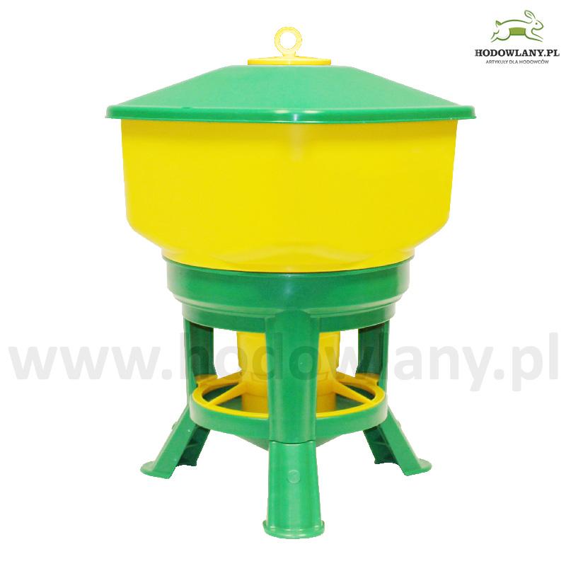 Karmidło zasypowe dla drobiu na stojaku GOLIAT 30 kg - zdjecie 1