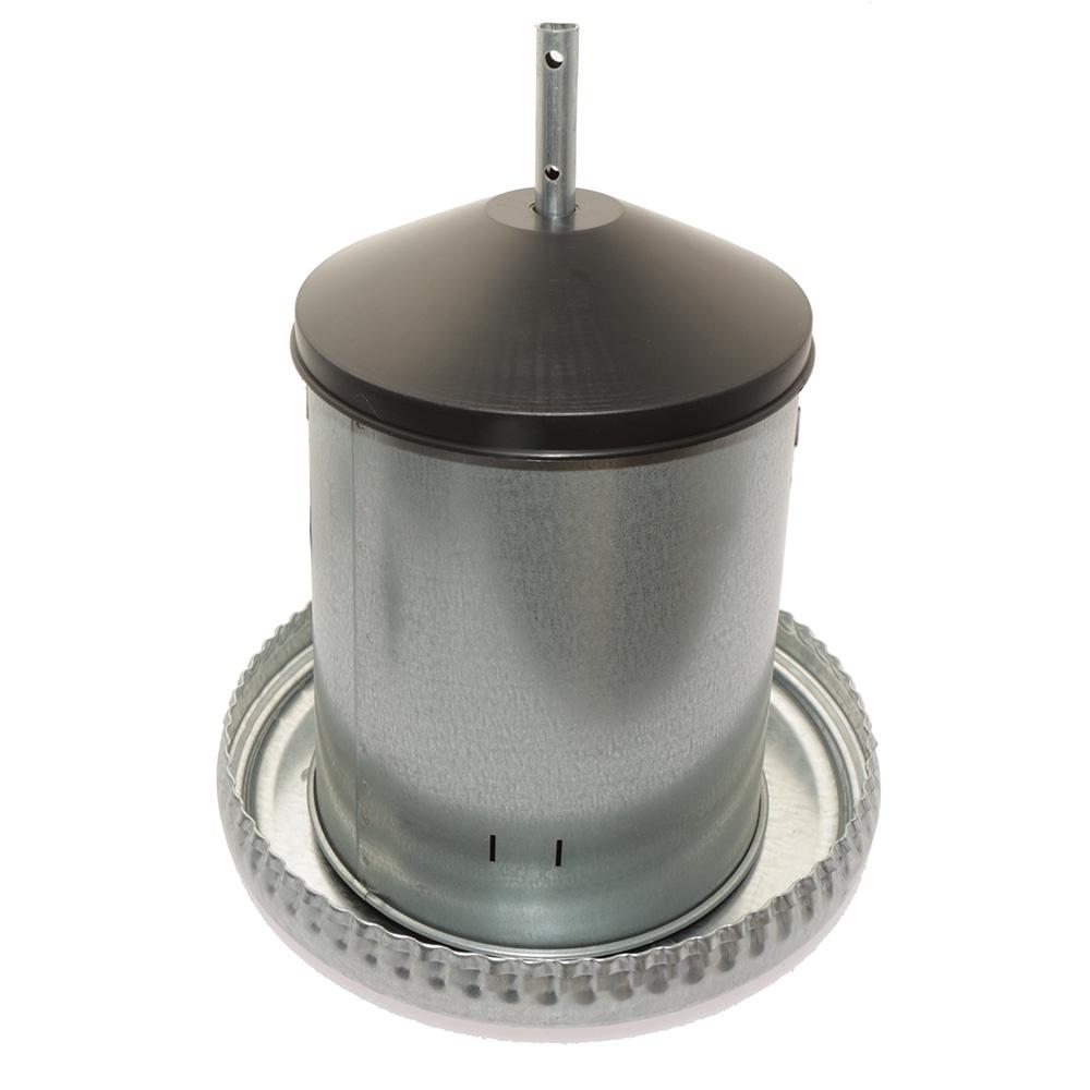 Automat paszowy - karmidło dla drobiu metalowe 5kg kompletne z regulacją