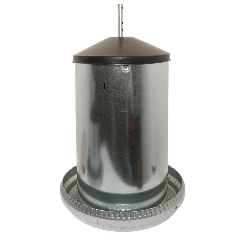 Automat paszowy - karmidło dla drobiu metalowe 18 kg kompletne z regulacją