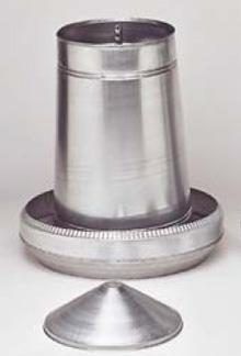 Automat paszowy - karmidło dla drobiu metalowe 40 kg kompletne z regulacją - zdjecie 1