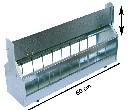 Karmidło zewnętrzne dla gołębi i drobiu - metalowe z antygrzędą - zdjecie 3