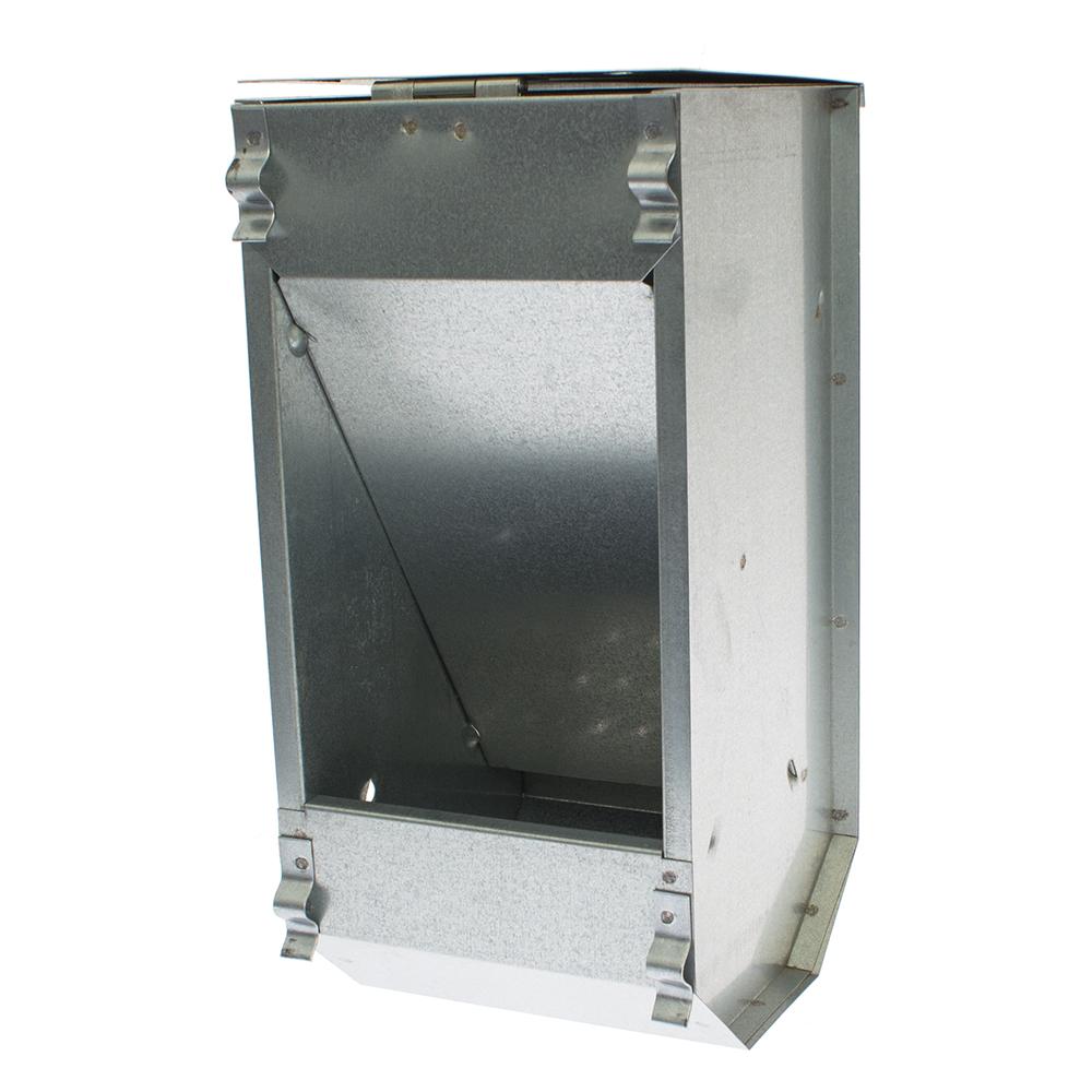Karmnik dla królików  jednokomorowy metalowy 14 cm z pokrywką ECON - zdjecie 1