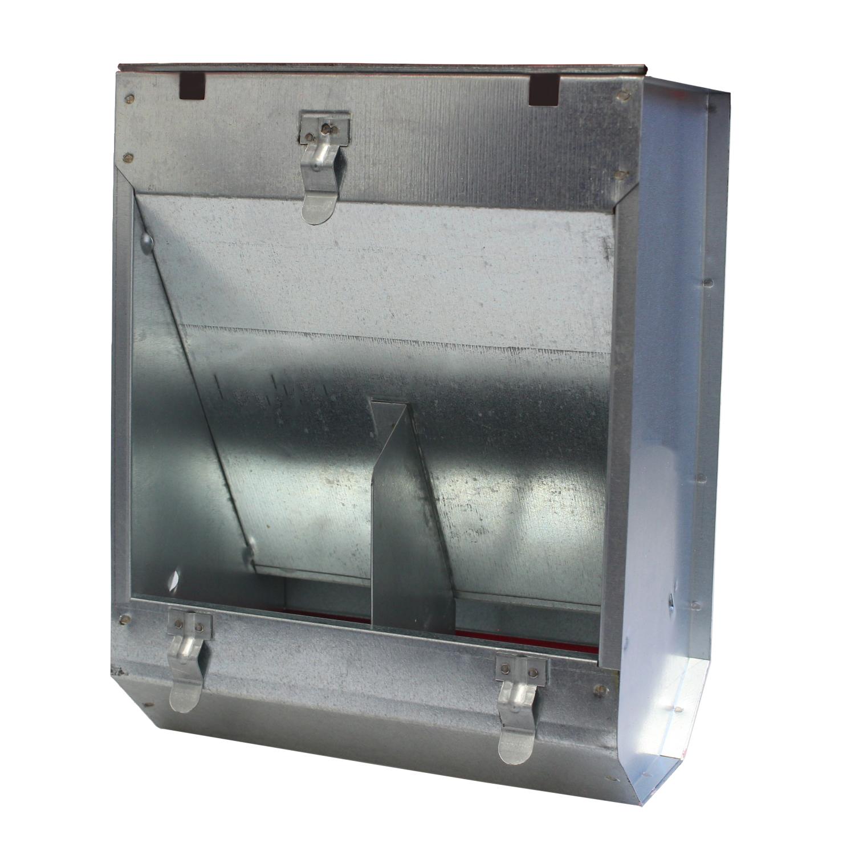 Karmnik dla królików  dwukomorowy metalowy 22 cm ECON