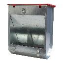 Karmnik dla królików dwukomorowe metalowy 22 cm z pokrywką ECON