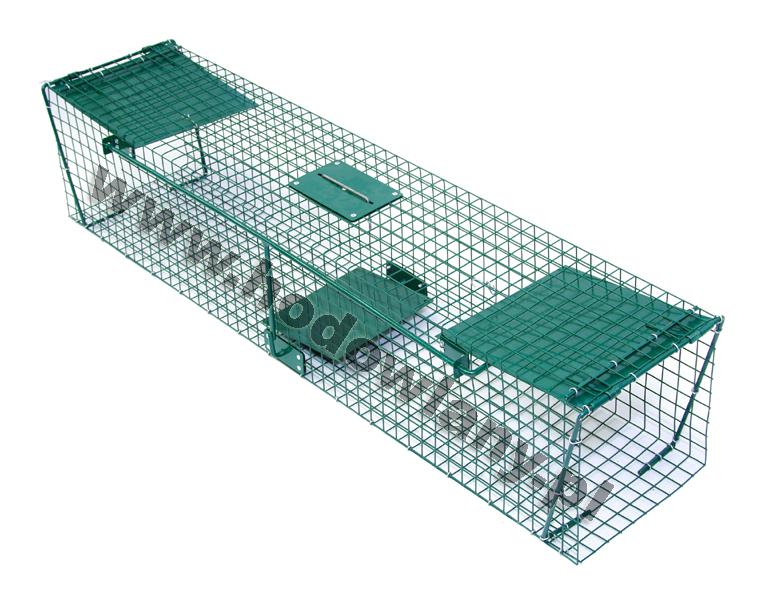 Żywołapka na kuny, łasice, koty, wydry 2 wejściowa - uniwersalna 125 cm - zdjecie 1