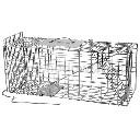 Pułapka żywochwytna kuny i łaski 68cm