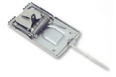Pułapka zatrzaskowa na myszy mała metalowa