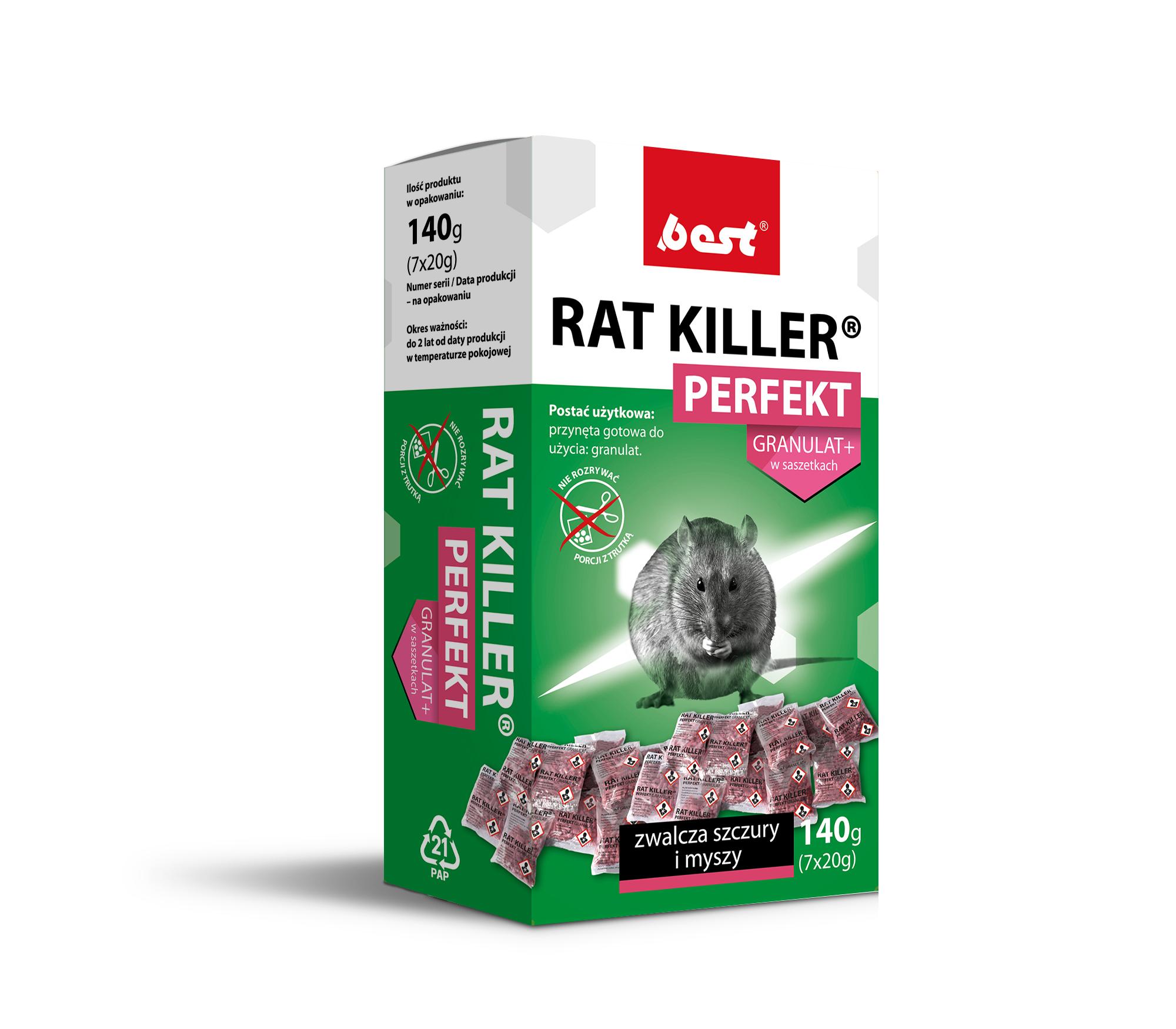 RAT KILLER PERFEKT 250 g granulat do zwalczania szczurów i myszy - zdjecie 1