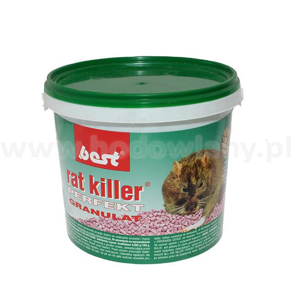 RAT KILLER PERFEKT 1 kg preparat gryzoniobójczy na myszy i szczury w granulacie - zdjecie 1