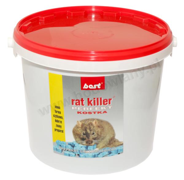 RAT KILLER PERFEKT 5 kg kostka trutka przeciw szczurom i myszom - zdjecie 1