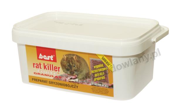 RAT KILLER FORTE 1 kg granulat w torebkach do zwalczania myszy i szczurów - zdjecie 1