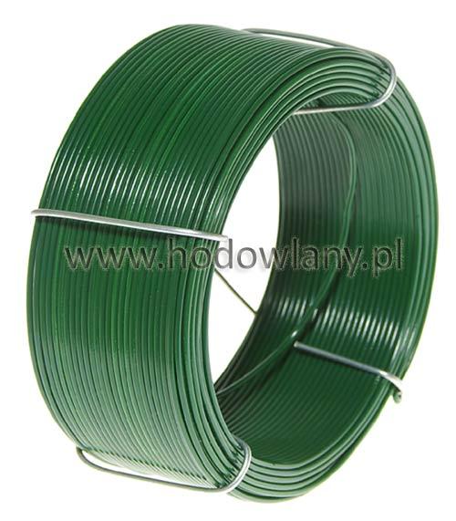 Drut zielony PCV wiązałkowy do łączenia i mocowania siatek 50mb - zdjecie 1