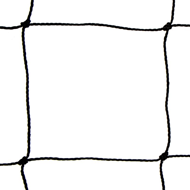 Siatka polietylenowa na woliery oczko 8 x 8 cm na wymiar - czarna - zdjecie 1