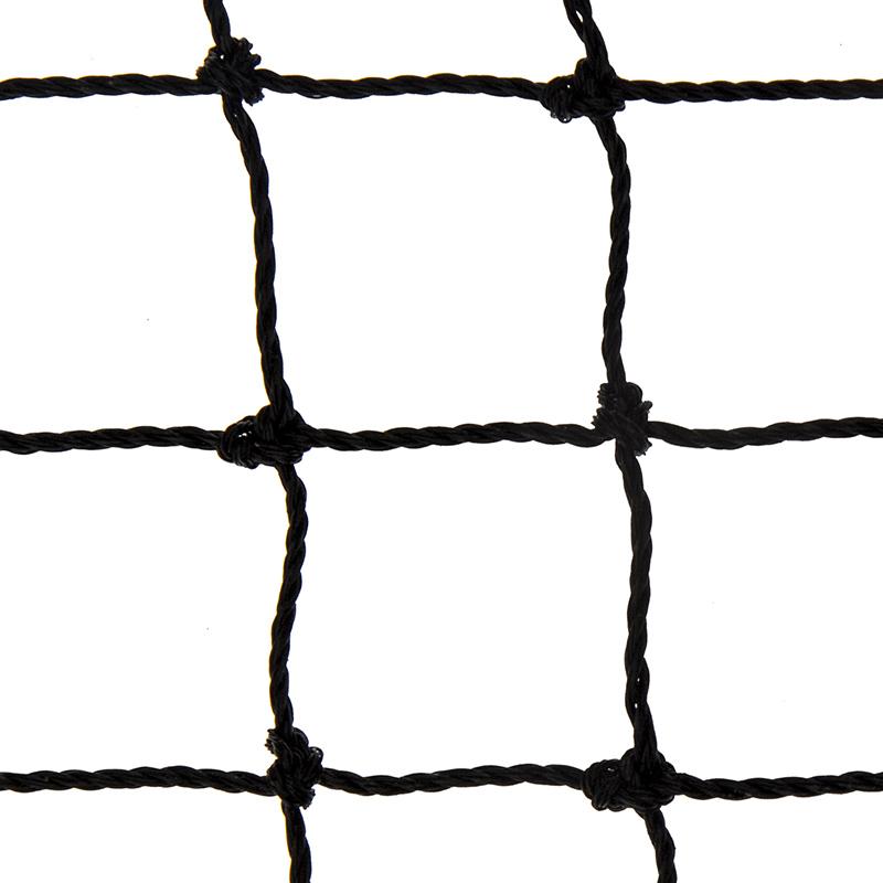 Siatka polietylenowa na pokrycia wierzchnie wolier oczko 6 x 6cm na wymiar - czarna  - zdjecie 1