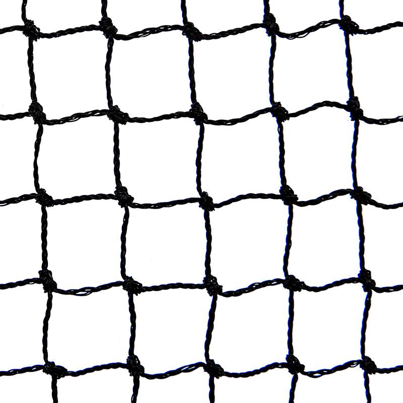 Siatka polietylenowa na górę woliery oczko 4 x 4 cm na wymiar - czarna  - zdjecie 1