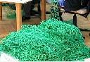 Siatka polietylenowa na pokrycia wierzchnie wolier oczko 6 x 6 cm - na wymiar - zielona - zdjecie 3