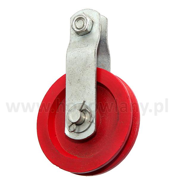 Bloczek do windy ręcznej czerwony fi 90 mm