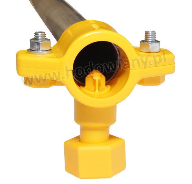 Łącznik z nakrętką do rury okrągłej fi 25 mm - zdjecie 1