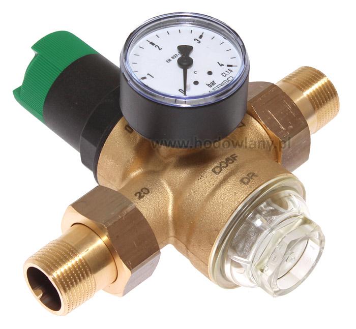 Regulator ciśnienia ze wskaźnikiem od 1,5-4Bar z gwintem 3/4cala, mosiężny - zdjecie 1