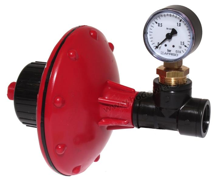 Regulator ciśnienia od 0,2 do 1 Bara ze wskaźnikiem - gwint 1/2 i 3/4 cala - zdjecie 1