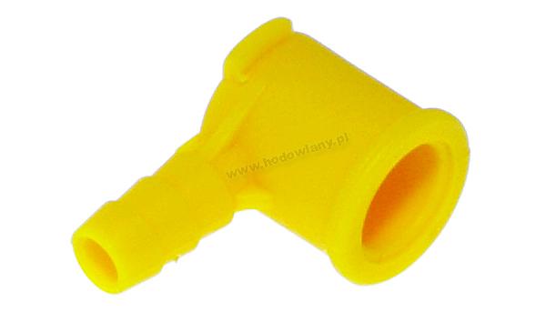 Kapturek na nipel do przejścia na wąż fi 7 mm - żółty - zdjecie 1