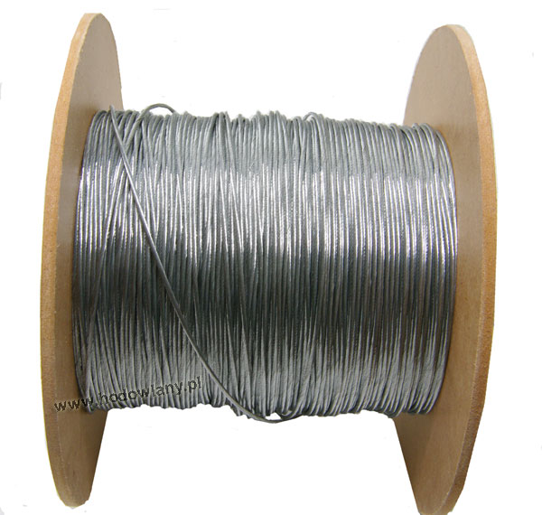 Przewód stalowy do prowadzenia antygrzędy elektrycznej w systemie karmienia i pojenia fi 1,2 mm - zdjecie 1