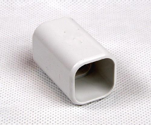 Łącznik prosty PCV rury kwadratowej 22x22mm na klej