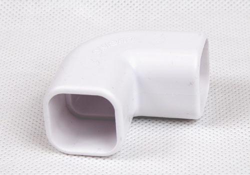 Łącznik kątowy, kolano rury kwadratowej 22x22mm na klej
