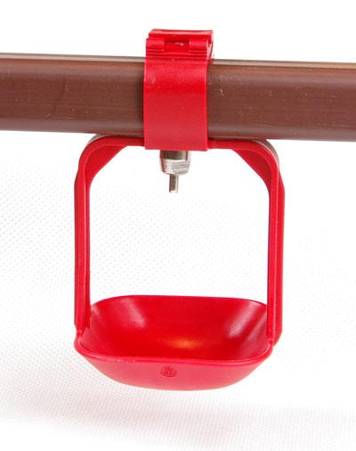 Miseczka okapowa dwuramienna mała pod poidło smoczkowe na rurę kwadratową - zdjecie 1
