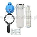 Filtr rurowy do wody z wkładem siatkowym 2 x GW 3/4 cala do systemu pojenia - zdjecie 2