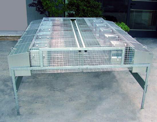 Przemysłowa klatka dla królików -  dla 10 matek